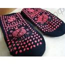 Турмалиновые носки тёплые с антискользящим рисунком на подошве