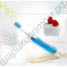 Складная дорожная зубная щётка с футляром