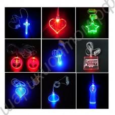 Подвески светящиеся с led (светящееся ожерелье, кулоны с лампочкой)