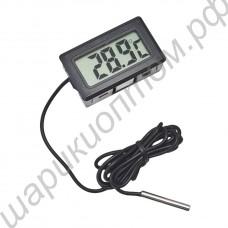 Цифровой термометр с выносным датчиком температуры, встраиваемый, электронный
