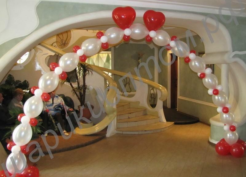 Как сделать своими руками украшение из шариков на свадьбу 27