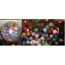 Шар-сюрприз с шариками, конфетти в качестве наполнителя